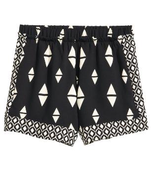 hm balck patterned shorts