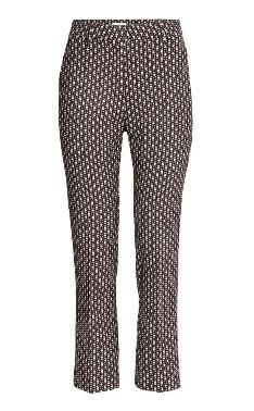 h&m black patterned slacks