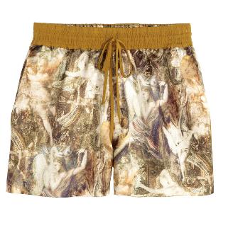 H&M silk and hemp shorts
