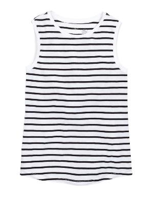 white striped h&m tank