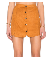 Toby Heart suede skirt