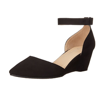 CL Touched Micro Suede Wedge Pump