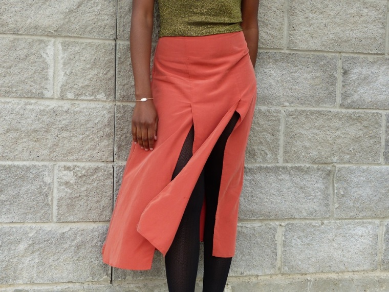 ASOS spliced skirt
